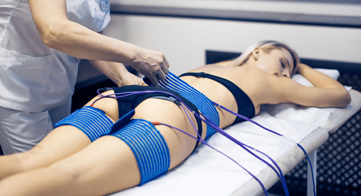 electrical muscle stimulation procedure