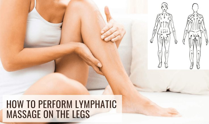 how to perform lymphatic massage on the legs