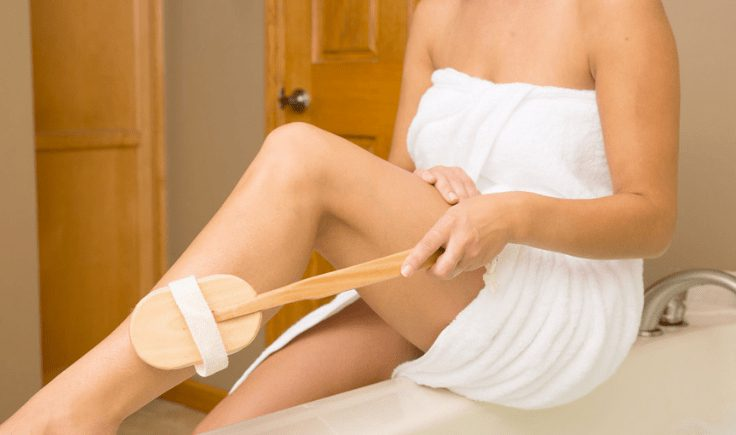 lymphatic drainage at home dry brushing