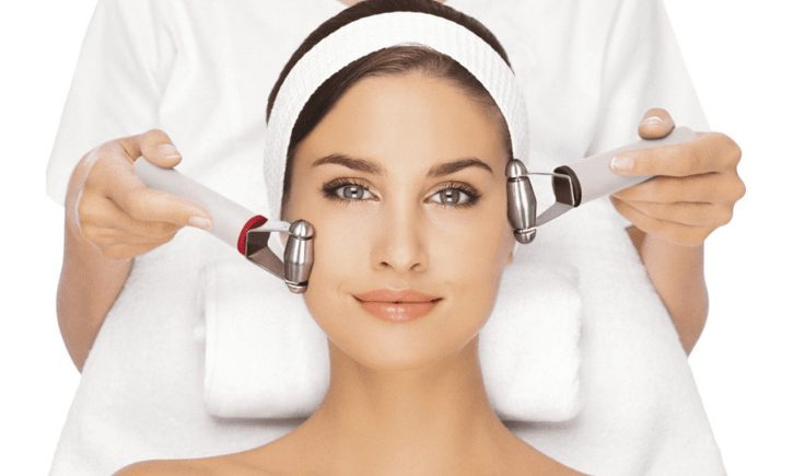 microcurrent facial at home vs. in-clinic professional microcurrent facial therapy