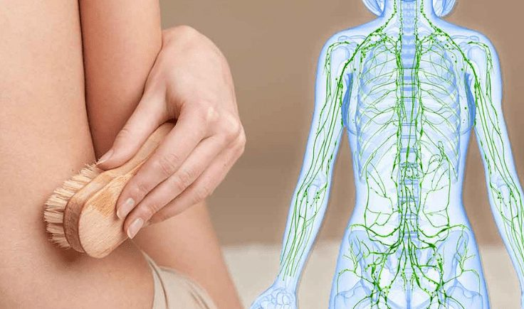 getting ready for a lymphatic drainage massage at home