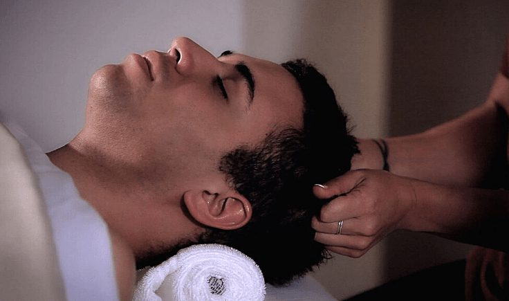 how to perform a scalp massage