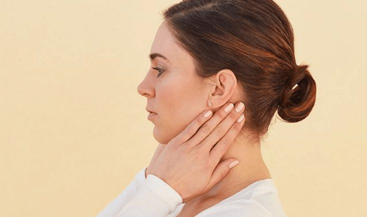 lymphatic drainage massage for sinus step #3 work on the back of your neck
